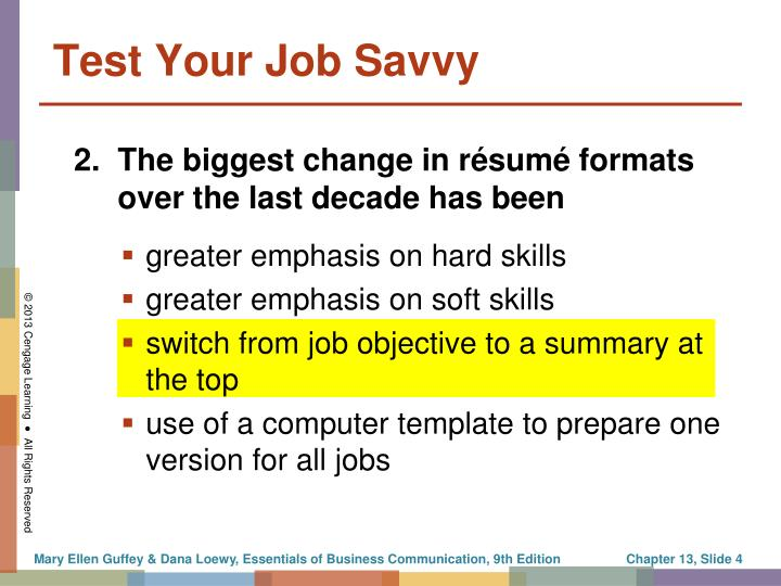greater emphasis on hard skills
