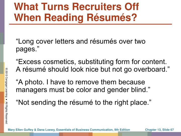 """""""Long cover letters and résumés over two pages."""""""