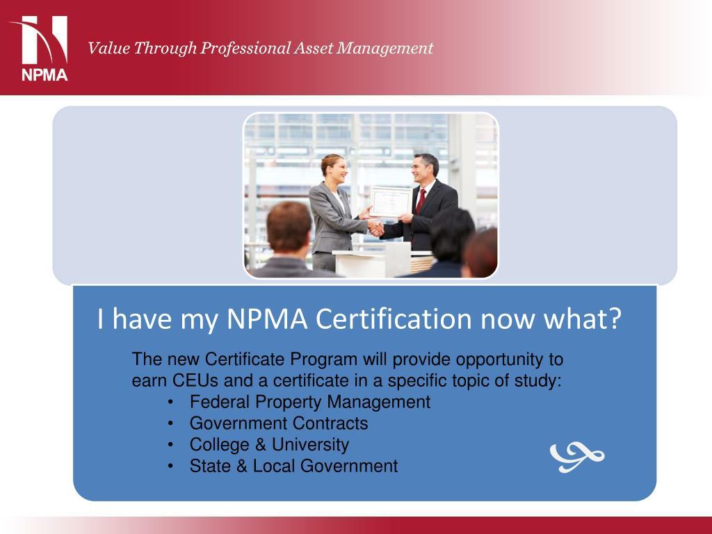 PPT - NPMA PowerPoint Presentation - ID:6380931