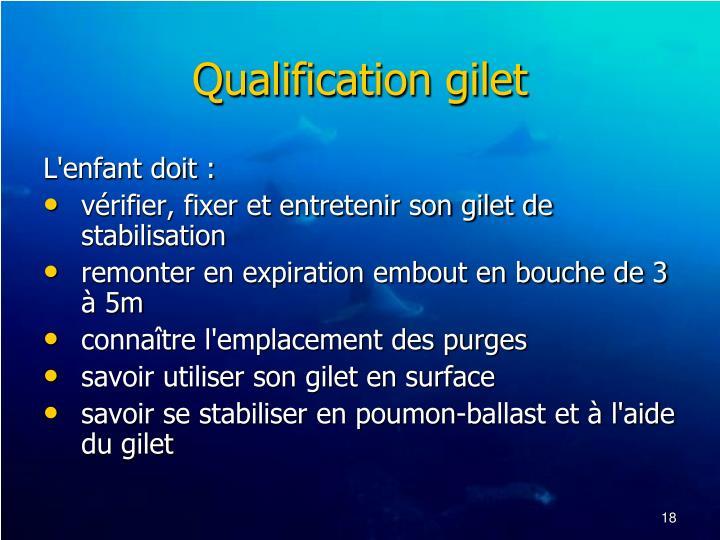 Qualification gilet