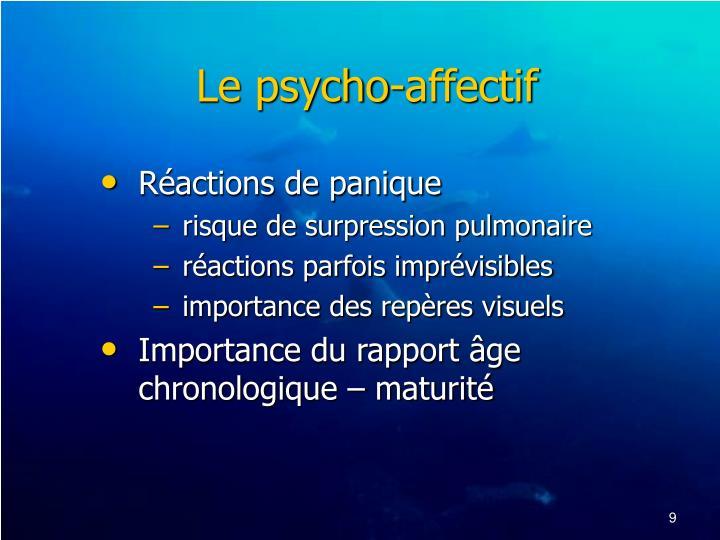 Le psycho-affectif