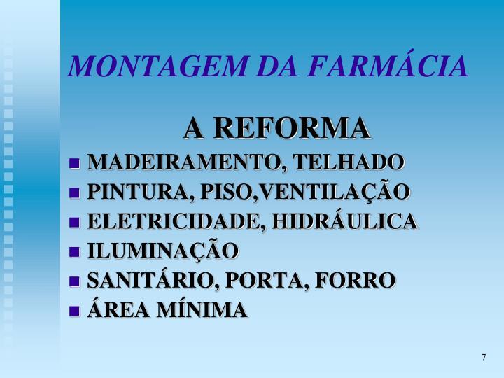 MONTAGEM DA FARMÁCIA