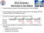 2012 outlook decrease in tax digest
