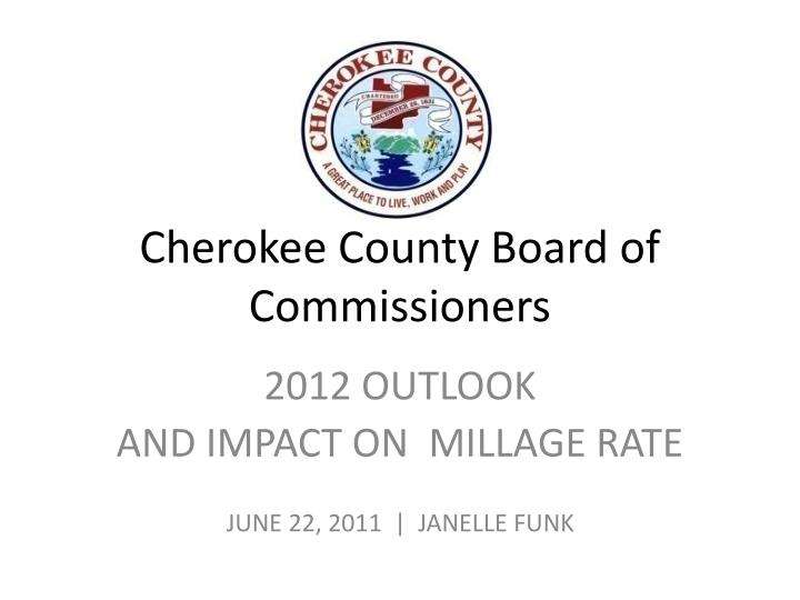 cherokee county board of commissioners