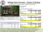millage rate preview impact of rollup