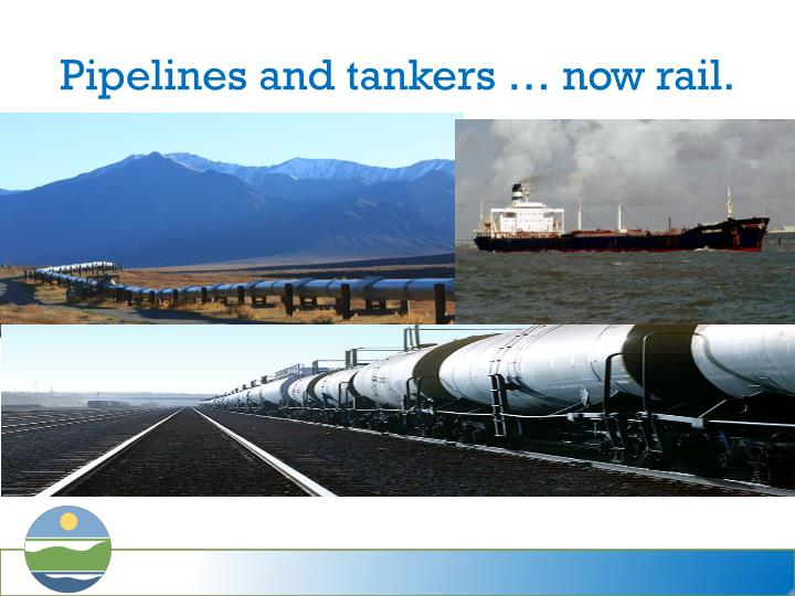 Pipelines and tankers now rail
