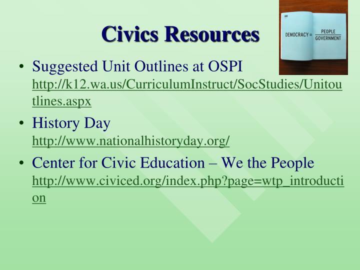 Civics Resources