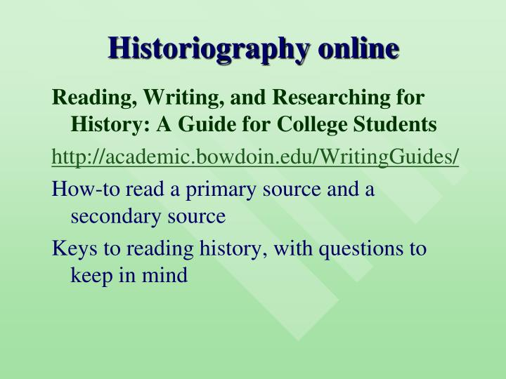 Historiography online