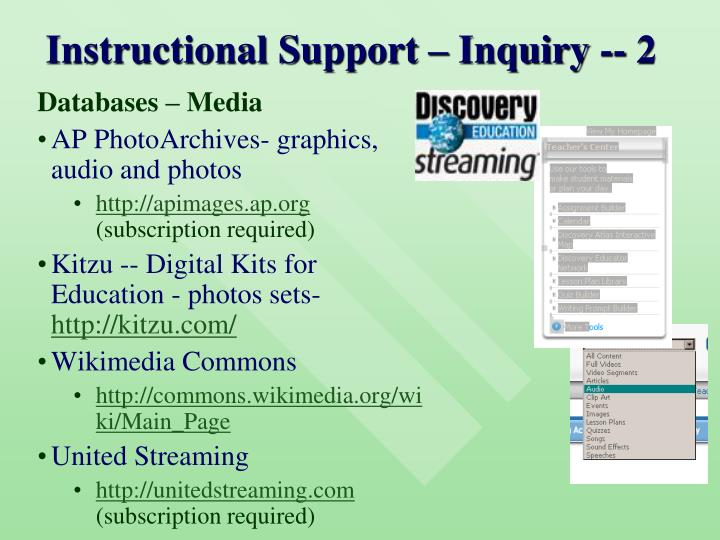 Instructional Support – Inquiry -- 2
