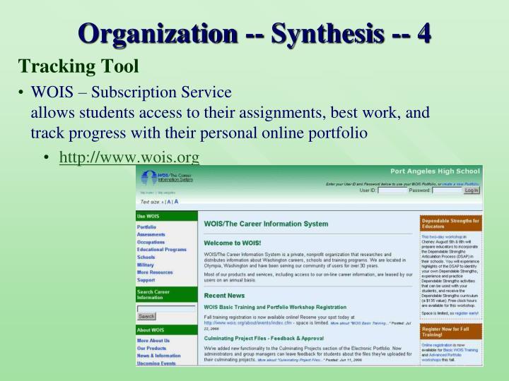 Organization -- Synthesis -- 4