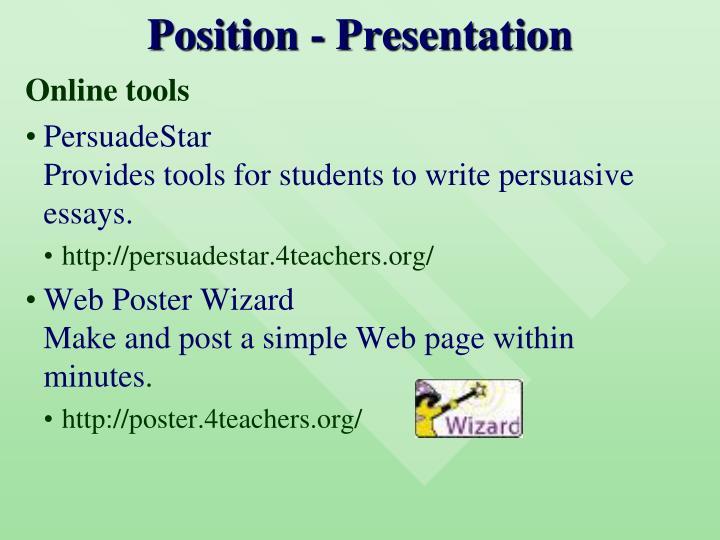 Position - Presentation