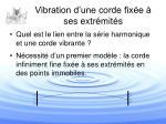 vibration d une corde fix e ses extr mit s