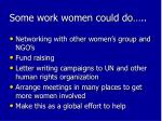 some work women could do1
