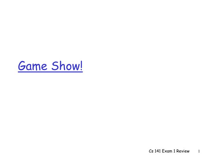 game show n.