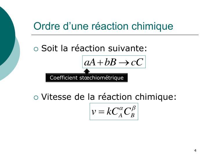 Ordre d'une réaction chimique