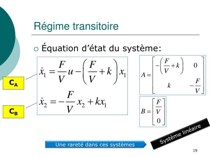 Régime transitoire