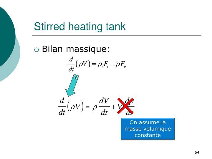 Stirred heating tank