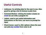 useful controls
