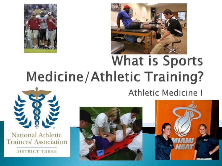 what is sports medicine athletic training n.