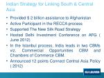 indian strategy for linking south central asia