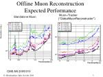 offline muon reconstruction expected performance