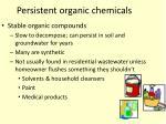 persistent organic chemicals