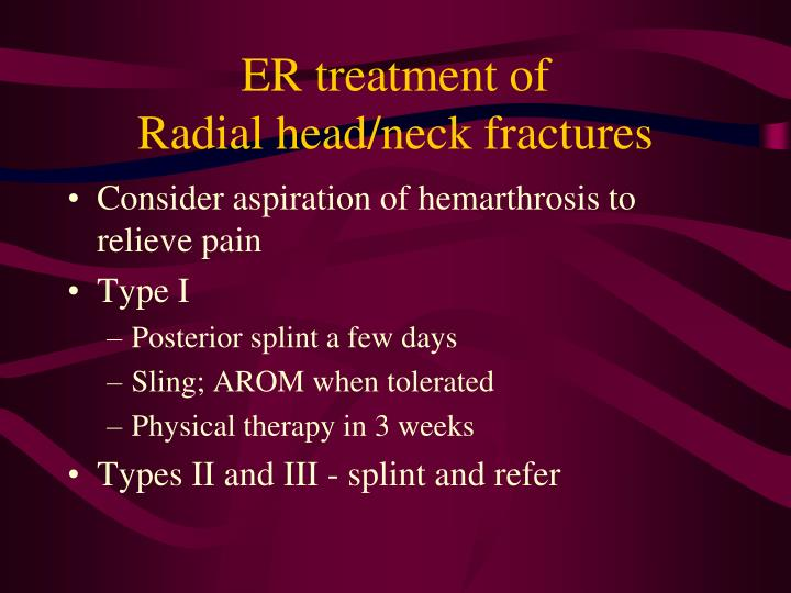 ER treatment of