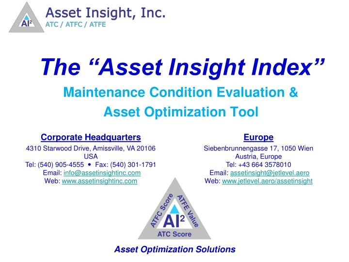 """The """"Asset Insight Index"""""""