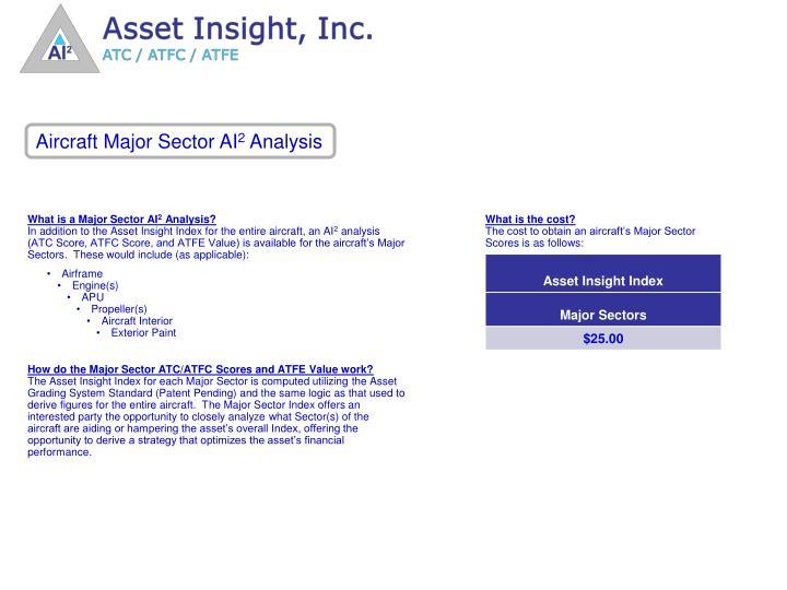 Aircraft Major Sector AI