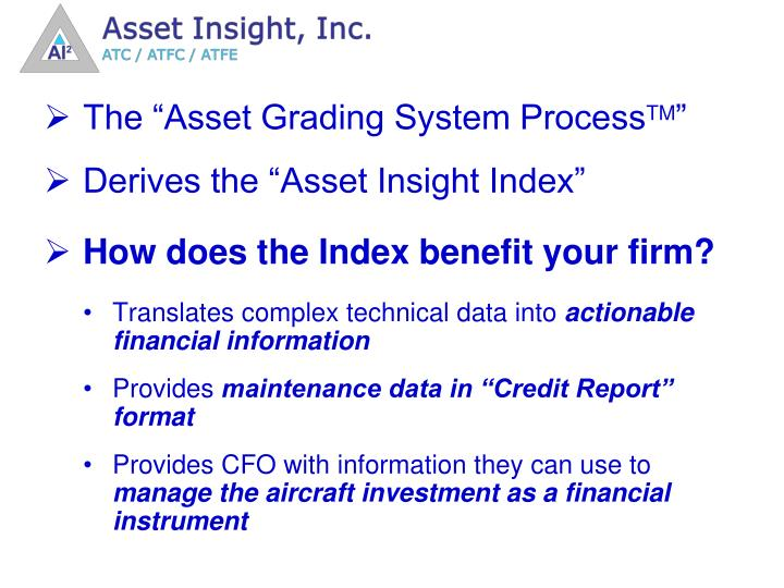 """The """"Asset Grading System Process"""