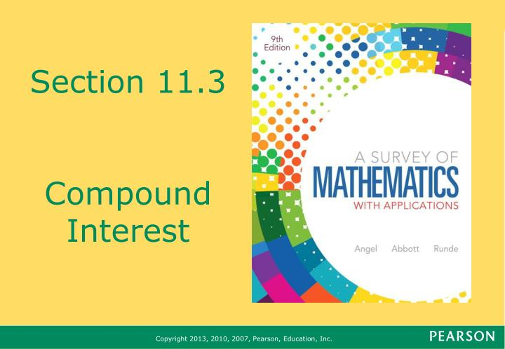 section 11 3 compound interest n.