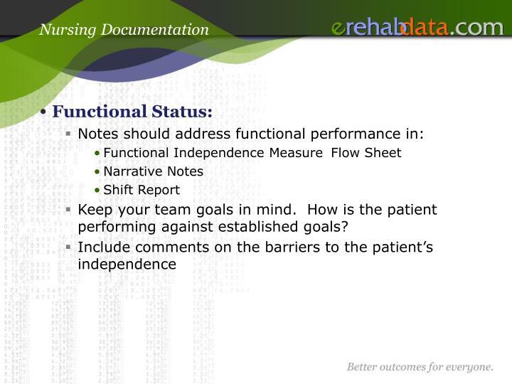 Nursing Documentation