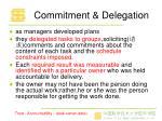 commitment delegation