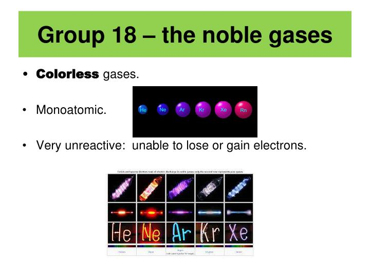 Group Properties Of Noble Gases