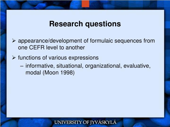 research questions n.