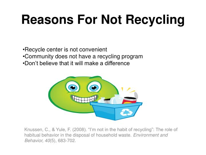 Reasons For Not Recycling