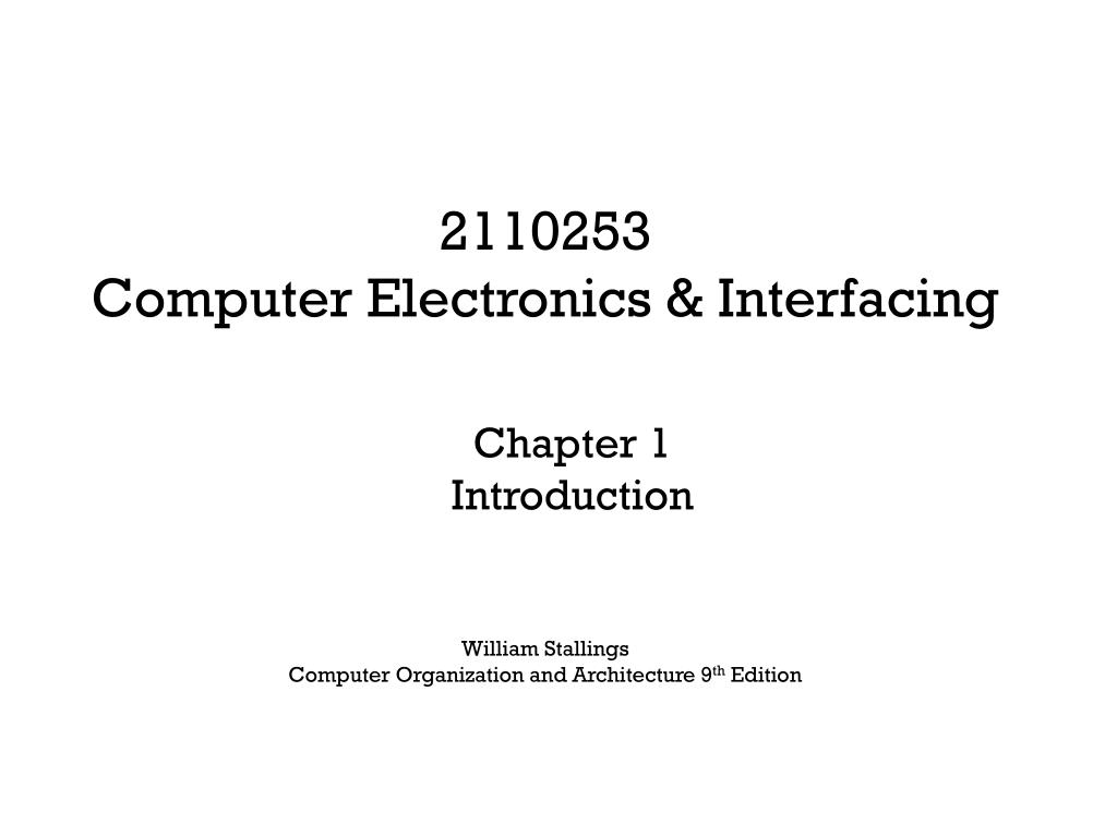 Ppt William Stallings Computer Organization And Architecture 9 Th