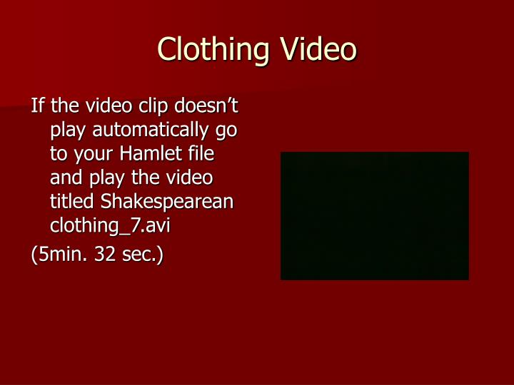 Clothing Video
