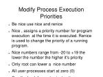 modify process execution priorities