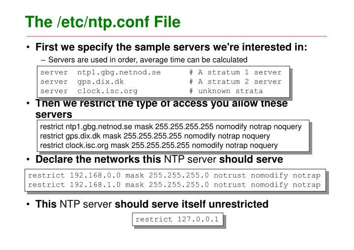 The /etc/ntp.conf File