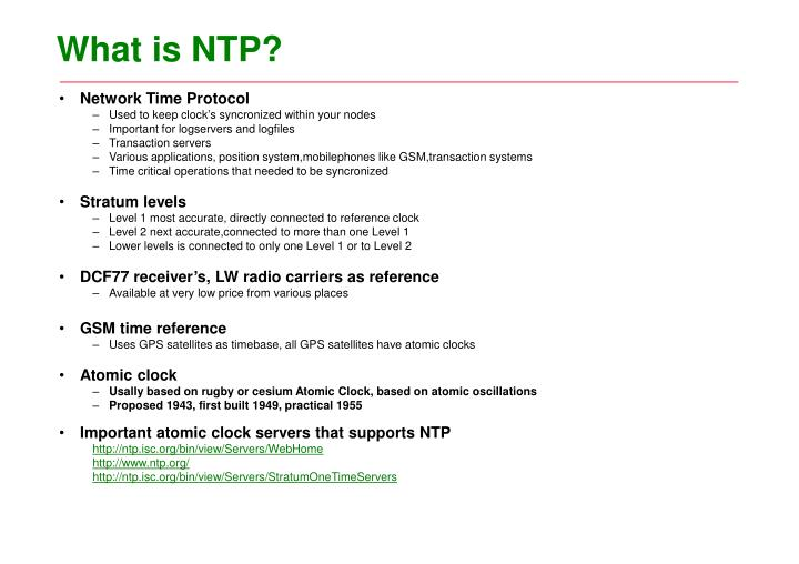 What is ntp