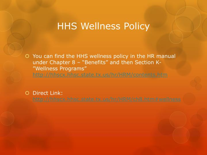 HHS Wellness Policy