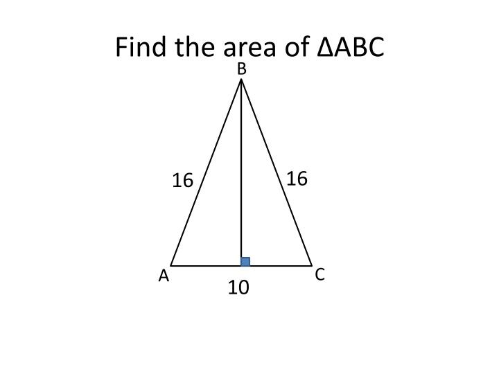 Find the area of ∆ABC