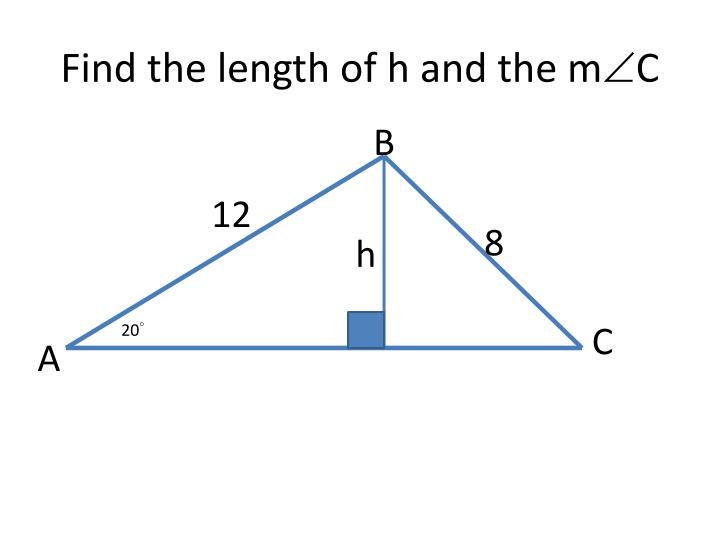 Find the length of h and the m