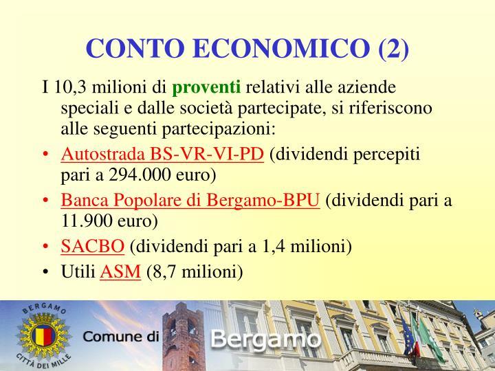 CONTO ECONOMICO (2)
