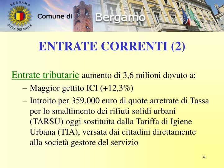 ENTRATE CORRENTI (2)