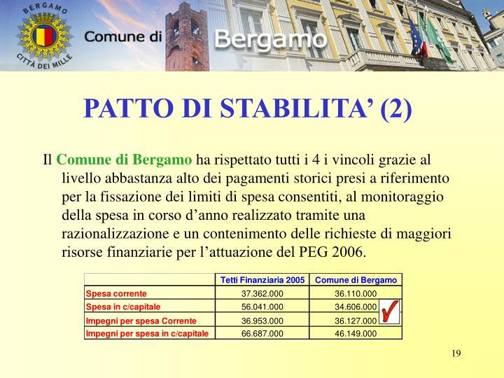 PATTO DI STABILITA' (2)