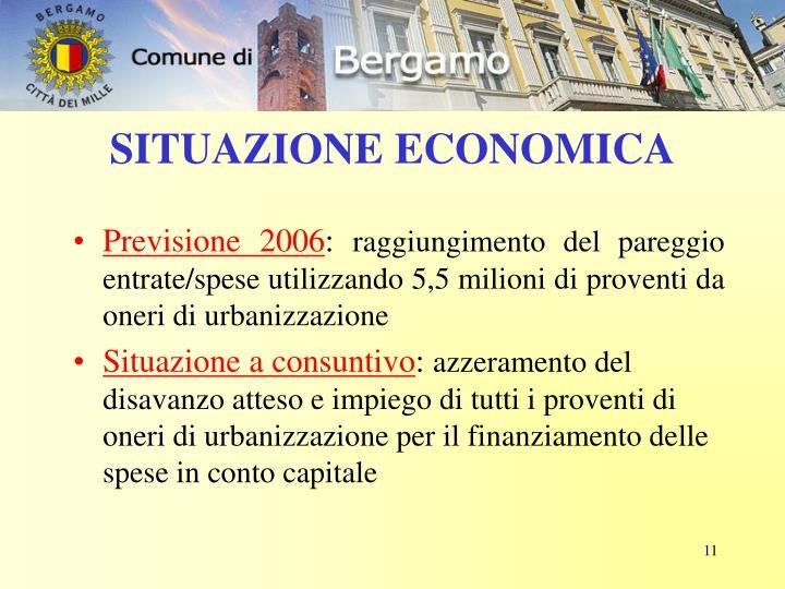 SITUAZIONE ECONOMICA
