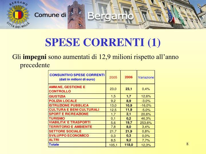 SPESE CORRENTI (1)