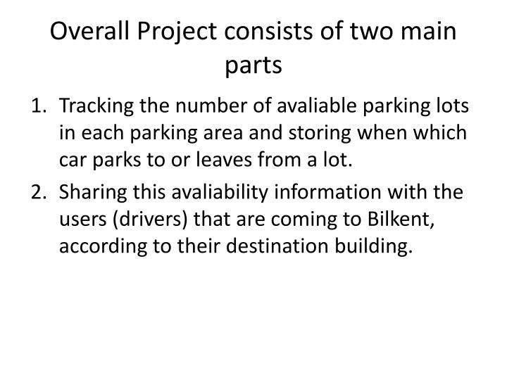 Overall project consists of two main parts
